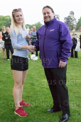 Steven Conway of CCL with Womens Winner Ruth Joss