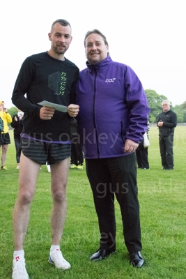 Steven Conway of CCL with Mens Winner Richard Mair