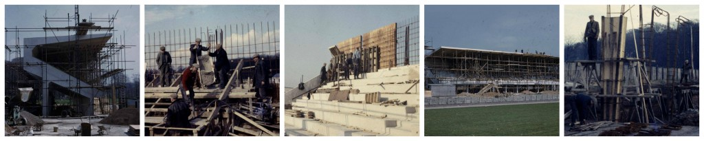 Stadium Grandstand Under Construction