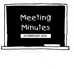 Meeting Minutes 10 FEB 2016